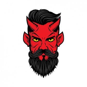 Cabeza de demonio a color