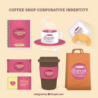 Cafetería maqueta identitity corpotative
