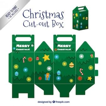 Caja de árbol de navidad