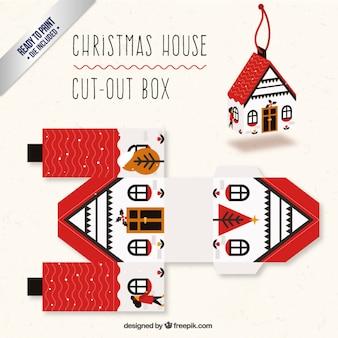 Caja de casa navideña