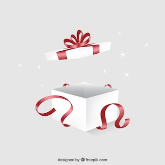 Caja de regalo abierta