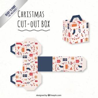 Caja linda de navidad en estilo cubo