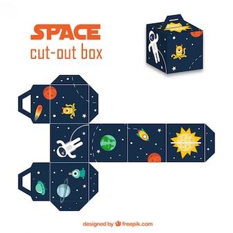 Caja recortable del espacio