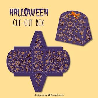 Caja recortable ornamental de halloween