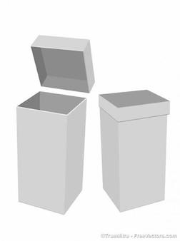 Cajas de papel de fondo blanco