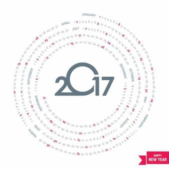 Calendario circular para 2017