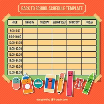 Calendario con material escolar para la vuelta al cole