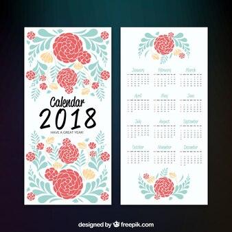 Calendario de 2018 floral