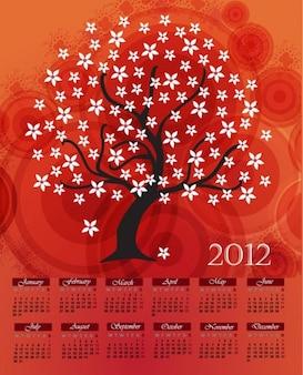 Calendario de diseño vectorial