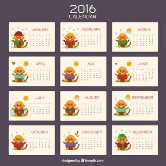 Calendario de mono