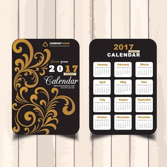 Calendario floral de bolsillo para 2017