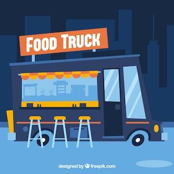 Camión de comida de dibujos animados