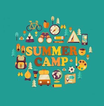 Campamento de verano temático.