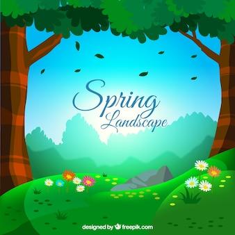 Campo bonito primaveral