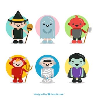 Caracteres lindos de Halloween