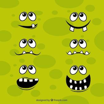 Caras del monstruo