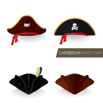 Caribe sombrero objeto conjunto traje fiesta festival pirata tesoro
