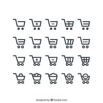 Carrito de la compra iconos