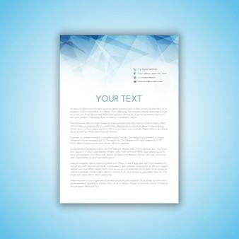 Carta de negocios con diseño poligonal