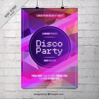 Cartel abstracto de fiesta de discoteca