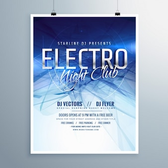 Cartel abstracto de música electro