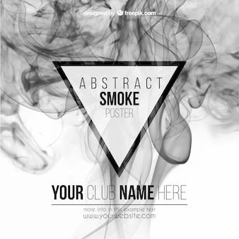 Cartel abstracto del humo