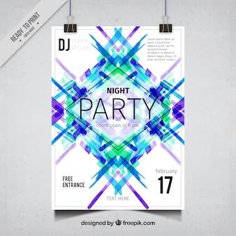 Cartel abstracto moderno de fiesta