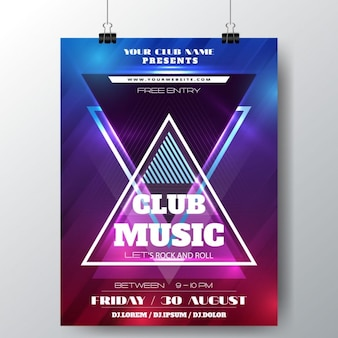 Cartel club de música
