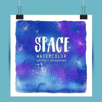 Cartel con acuarelas sobre el espacio