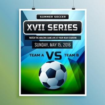 Cartel de campeonato de fútbol