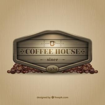Cartel de casa del café