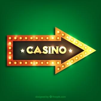 Cartel de casino con diseño de flecha