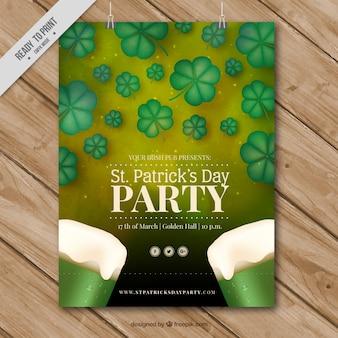 Cartel de celebración del día de san patrick