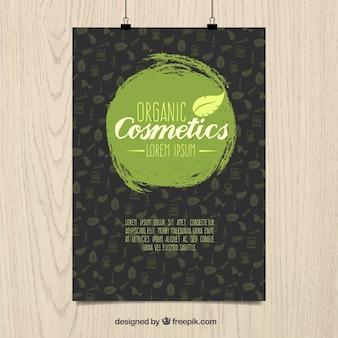 Cartel de cosméticos orgánicos