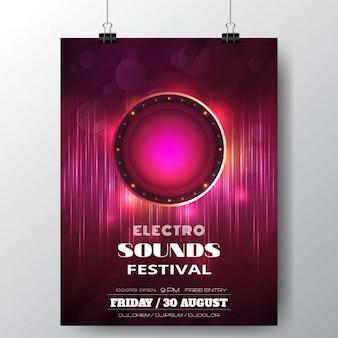 Cartel de electro sounds festival