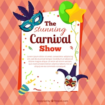 Cartel de espectáculo de carnaval