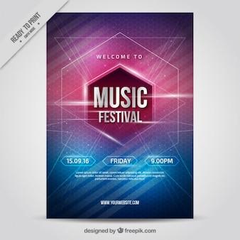 Cartel de fiesta de música interesante