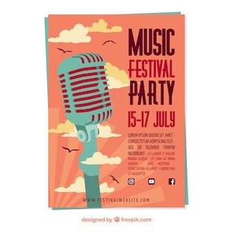 Cartel de fiesta musical
