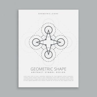 Cartel de figura geométrica