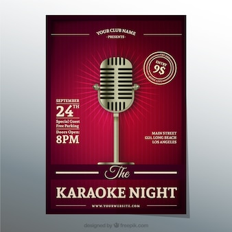 Cartel de la noche de Karaoke