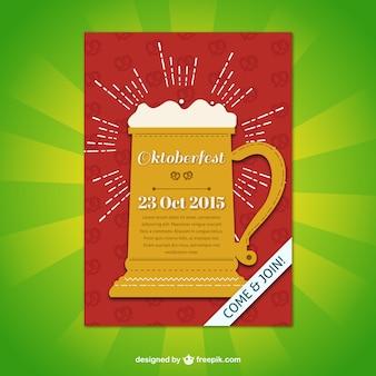Cartel de la taza de cerveza Oktoberfest