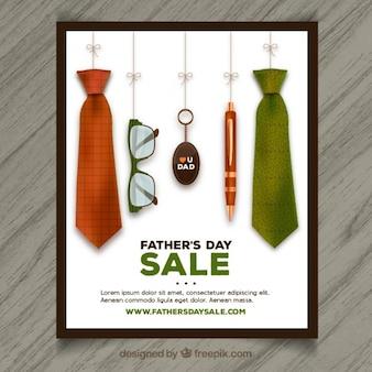 Cartel de las rebajas del día del padre