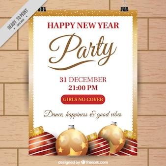 Cartel de navidad con marco dorado