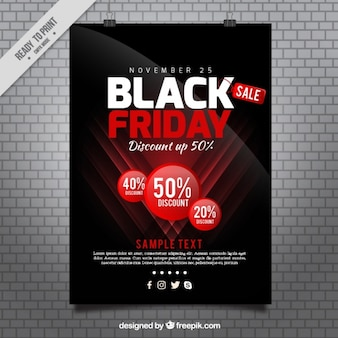 Cartel de viernes negro en estilo moderno