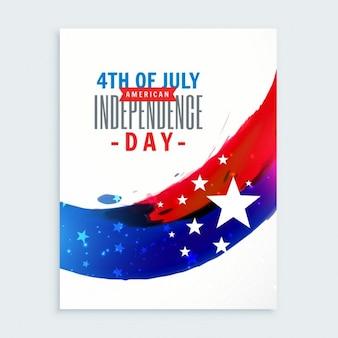 Cartel del 4 de julio de la independencia americana