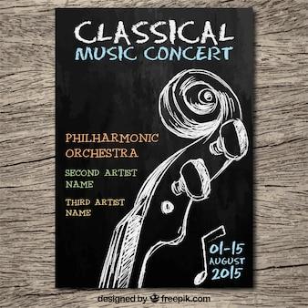 Cartel del concierto de música clásica