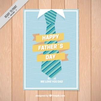 Cartel del día del padre con una corbata