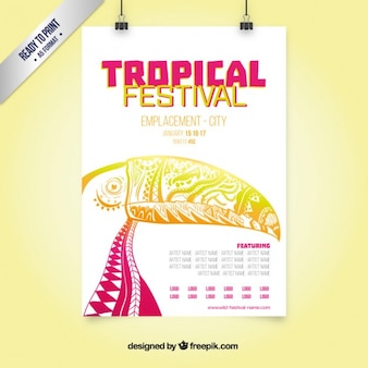 Cartel del festival Tropical
