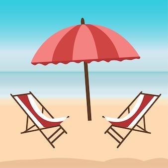 Cartel del tiempo de verano