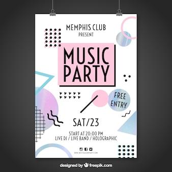 Cartel memphis de fiesta de música